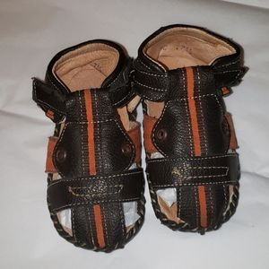 Baby leather/leatherett sandals firsts steps